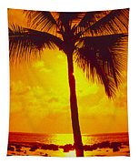 Silhouetted Palm Tapestry