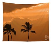 Silhouetted Palms Tapestry