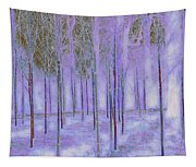 Silver Birch Magical Abstract  Tapestry