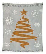 Silver Gold Tree Tapestry