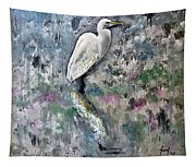 Silver Lake Snowy Egret Tapestry