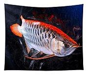 Silver Orange Arowana  Tapestry