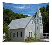 Simple Country Church Tapestry