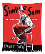 Simple Sam The Wasting Fool Tapestry