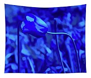 Simply Blue Pink Tulip Tapestry