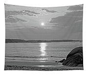 Singing Beach Rocky Sunrise Manchester By The Sea Ma Sand Black And White Tapestry