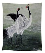 Singing Cranes Tapestry
