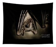 Single Bat Hanging Portrait Tapestry