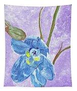 Single Delphinium Flower Tapestry