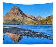 Sinopah Mountain Panoramic Reflections  Tapestry