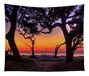 Sit With Me Driftwood Beach Sunrise Jekyll Island Georgia Tapestry