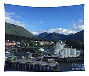 Sitka From The Waterfront Showing The Three Sisters In The Back 2015 Tapestry