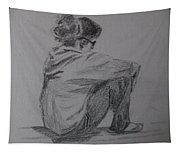 Sitting Girl Tapestry