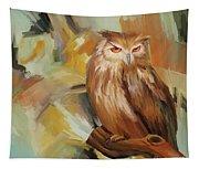 Sitting Owl Tapestry