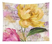 Sitting Pretty Peonies Tapestry
