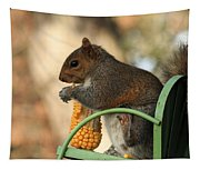 Sitting Squirrel Tapestry