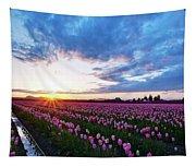 Skagit Floral Sunset Tapestry