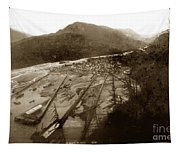 Skaguway, Alaska View From Hill Over Looking 1898 Tapestry