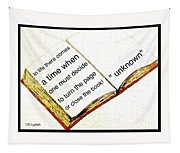 Sketch Of A Book With Quote Tapestry