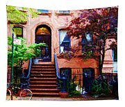 Sketch Of Carrie's Place From Sex And The City Tapestry