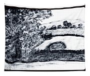 Sketch Of Country Scene Tapestry