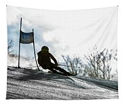 Ski Racer Backlit Tapestry