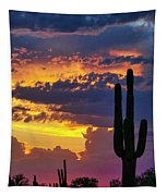 Skies Aglow In Arizona  Tapestry