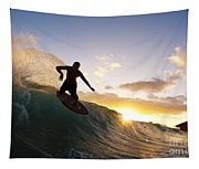 Skimboarding At Sunset I Tapestry
