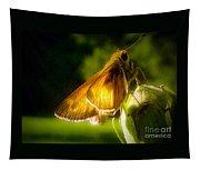 Skipper Butterfly Basking In Sun Tapestry