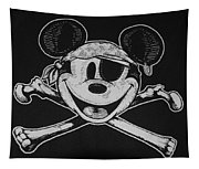 Skull And Bones Mickey  Tapestry