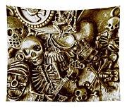Skull And Cross Bone Treasure Tapestry