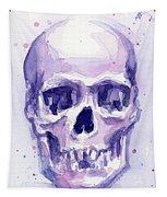 Purple Skull Tapestry