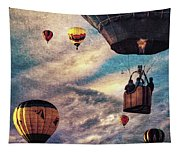 Sky Caravan Hot Air Balloons Tapestry