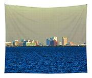 Skyline Of Tampa Bay Florida Tapestry