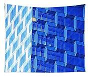 Skyscraper Blue Tapestry