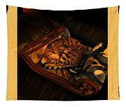 Sleeping Cat Digital Painting Tapestry