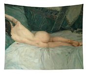 Sleeping Naked Woman Tapestry