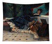 Sleeping Woman With A Book Tapestry