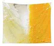 Slice Of Orange And Lemon In Cocktail Glass Tapestry