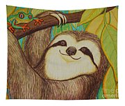Sloth And Frog Tapestry
