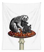 Slow Loris With Antique Camera Tapestry