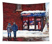 Small Format Paintings For Sale Poutine Lafleur Montreal Petits Formats A Vendre Cspandau Artist  Tapestry