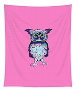 Small Owl Pink Tapestry