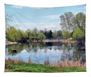 Small Pond In Tomilino Tapestry