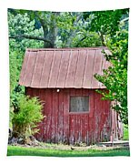 Small Red Barn - Lewes Delaware Tapestry