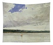 Small Sloop On Saco Bay Tapestry