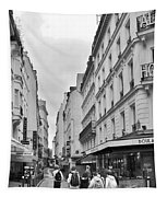 Small Street In Paris Tapestry