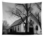 Small Town Church Tapestry