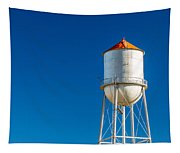 Small Town Water Tower Tapestry
