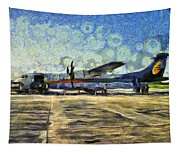 Small Turboprop Plane Tapestry